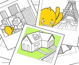 Disegni Case, Città e Monumenti da colorare