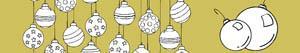 Disegni Palline di Natale da colorare