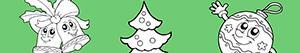 Disegni Decorare l'albero di Natale da colorare